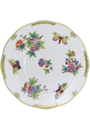 ASSIETTE PLATE - ASSIETTE DE TABLE EN PORCELAINE HEREND - VICTORIA BORD EN OR - VBO