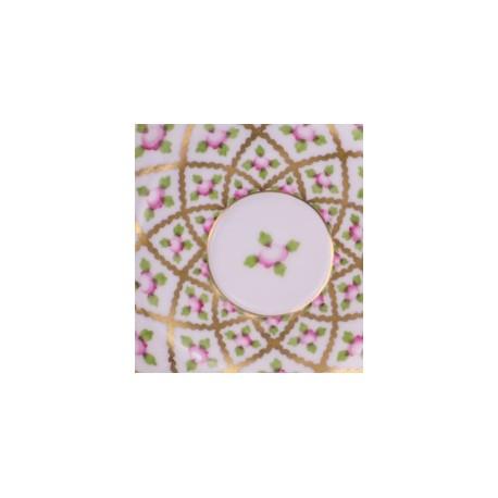 ASSIETTE A GATEAU EN PORCELANE HEREND - SEVRES PETITES ROSES OR GRAND – SPROG