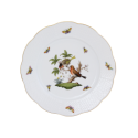 ASSIETTE PLATE - ASSIETTE DE TABLE EN PORCELAINE HEREND - ROTHSCHILD COUPLE D'OISEAUX