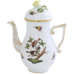 CAFETIERE EN PORCELAINE HEREND - ROTHSCHILD COUPLE D'OISEAUX