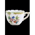 TASSE A CAFE AVEC SOUCOUPE EN PORCELAINE HEREND - VICTORIA BORD EN OR - VBO