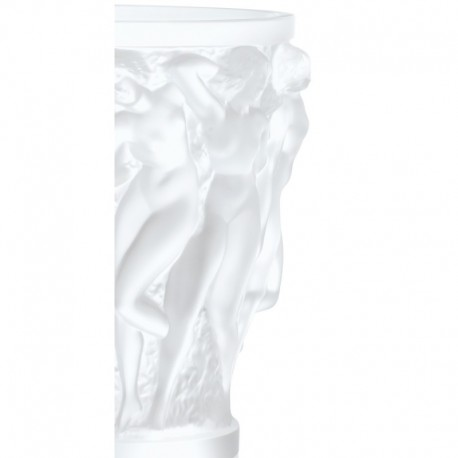 VASE EN CRISTAL SATINE LALIQUE - COLLECTION BACCHANTES